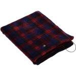 [山善] 電気ひざ掛け ポンチョ USBブランケット 130×80cm 丸洗い可能 電気毛布 肩掛け チェック柄レッド YHK-US40(BC)