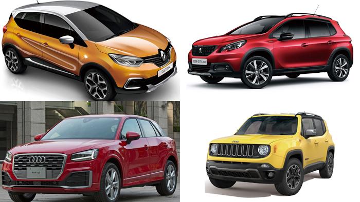 超小型SUV(コンパクト)|【一覧】外車SUVサイズ(全長/全幅/全高)