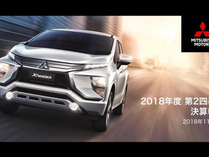 三菱自動車 2018年度中間決算 表紙